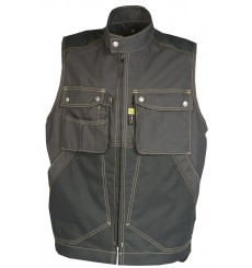 GILET CRAFT WORKER gris/noir