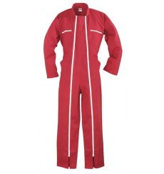 COMBINAISON 2 ZIPS POLYCOTON ROUGE 245 G/M2 TAILLE S 40-42