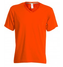 TEE-SHIRT HOMME COL V 150G COULEUR