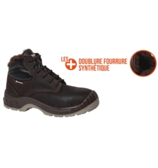 CHAUSSURE NORWAY S3 CI FOURREE MARRON